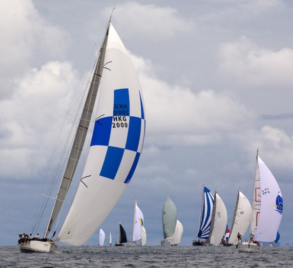 'Phuket King's Cup 2010. Jelik 3 cruises through the fleet on an islands course.'    Guy Nowell ©