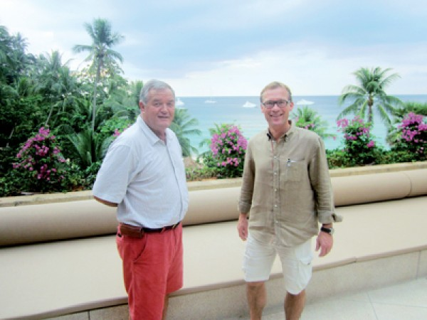 Director of Asia Pacific Superyachts Thailand, Charles Dwyer (left) and Bas Nederpelt (right), sales director of De Vries Feadship shipyard said South Asia is contending against the Caribbean as a preferred winter cruising hub for superyachts, including Phuket.
