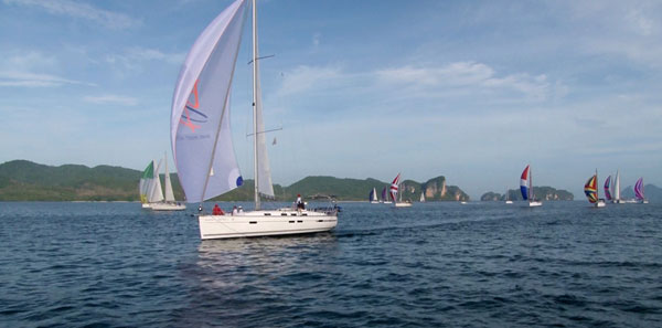 The sailing grounds that make the Bay Regatta so famous. 2012 Bay Regatta. Photo by Go Yachting.