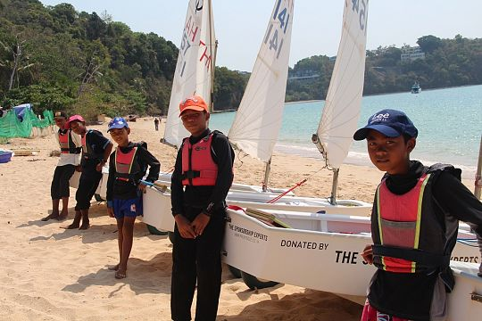 The optimist sailors of Phuket Youth Sailing Club. Photo: JP Mestanza
